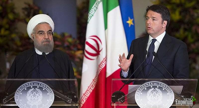 O presidente do Irã Hassan Rohani e o primeiro ministro da Itália Matteo Renzi, em Roma