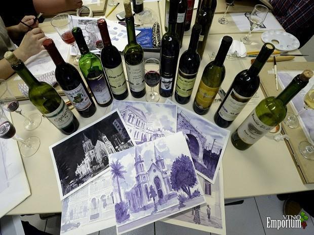 Obras pintadas com vinho serão atração na Festa da Uva em Jundiaí