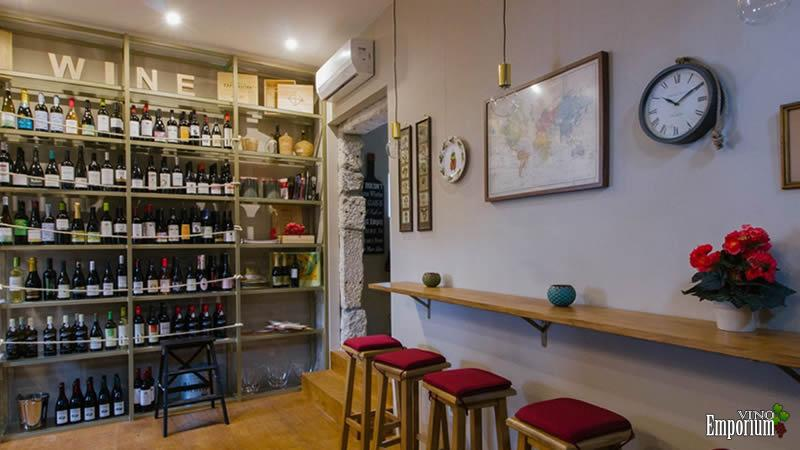 Interior do wine bar