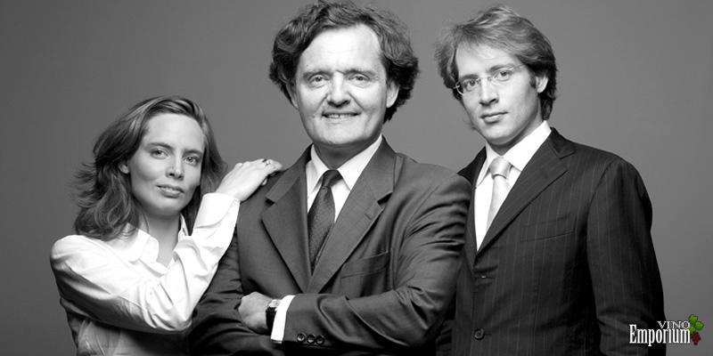 Vitalie, com o pai Pierre-Emmanuel e o irmão Clovis Taittinger