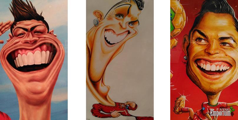 Museu do Vinho da Bairrada expõe caricaturas de Cristiano Ronaldo