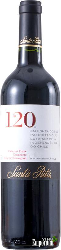 Ficha Técnica: 120 Carmenere - Cabernet Franc - Cabernet Sauvignon (2013)