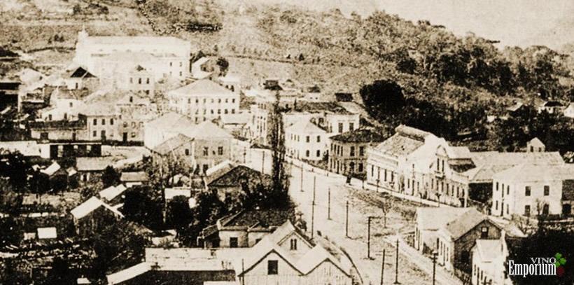 1905 - Foto da cidade de Bento Gonçalves, berço da Vinícola Aurora